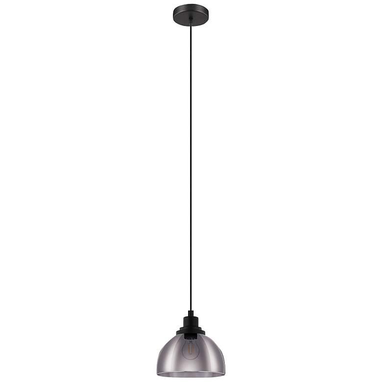"""Eglo Beleser 7 3/4"""" Wide Matte Black Pendant Light"""