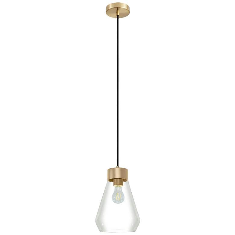 "Eglo Montey 8 1/4"" Wide Brushed Gold Pendant Light"