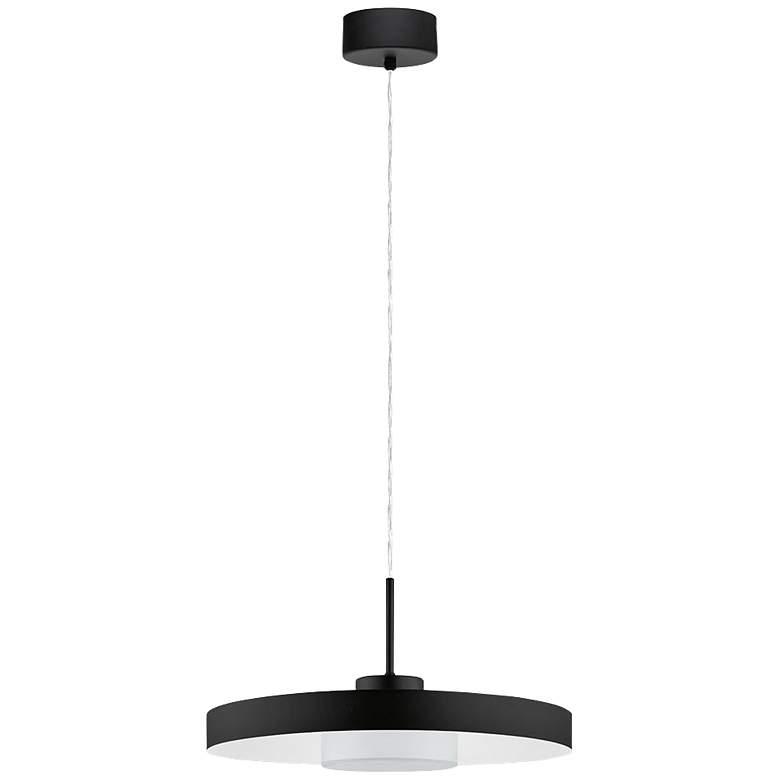 """Eglo Alpicella 15 3/4"""" Wide Matte Black LED Pendant Light"""