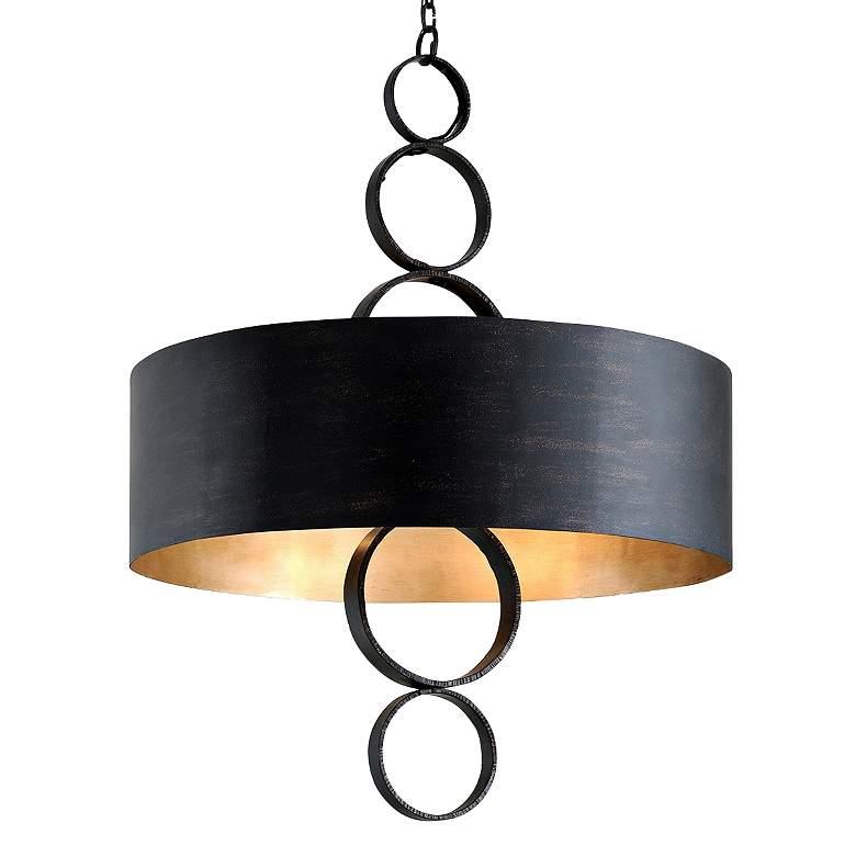 "Rivington 36 1/4"" Wide Charred Copper Drum Pendant Light"