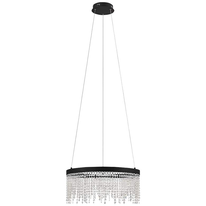 "Eglo Antelao 24"" Wide Black LED Chandelier"