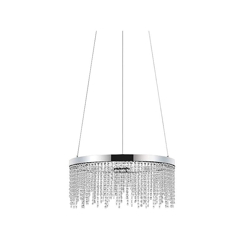 "Eglo Antelao 24"" Wide Chrome LED Chandelier"