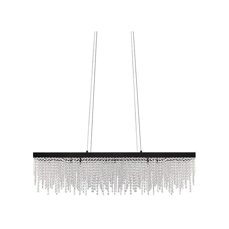 "Eglo Antelao 12 1/2"" Wide Black LED Chandelier"