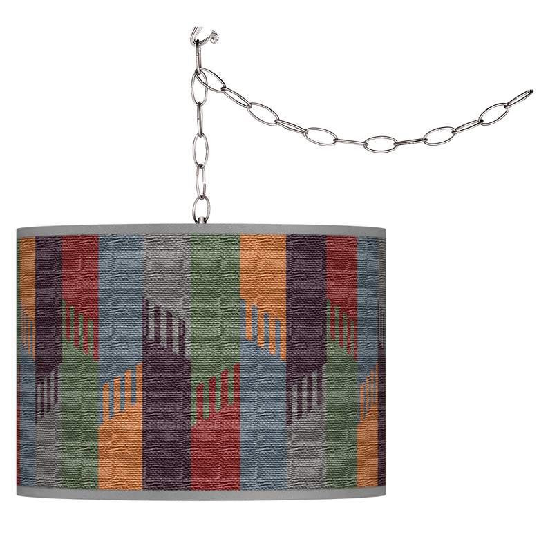 Tassels Giclee Glow Plug-In Swag Pendant