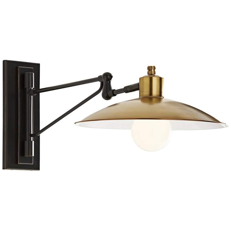 Arteriors Home Nox Antique Brass Swing Arm Wall Lamp