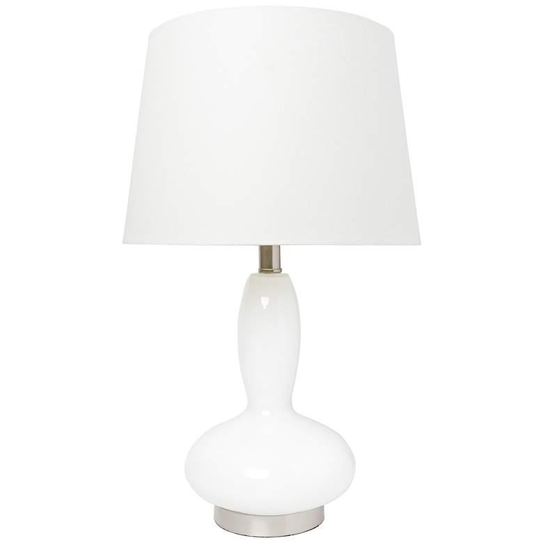 Lalia Home Dollop White Glass Accent Table Lamp