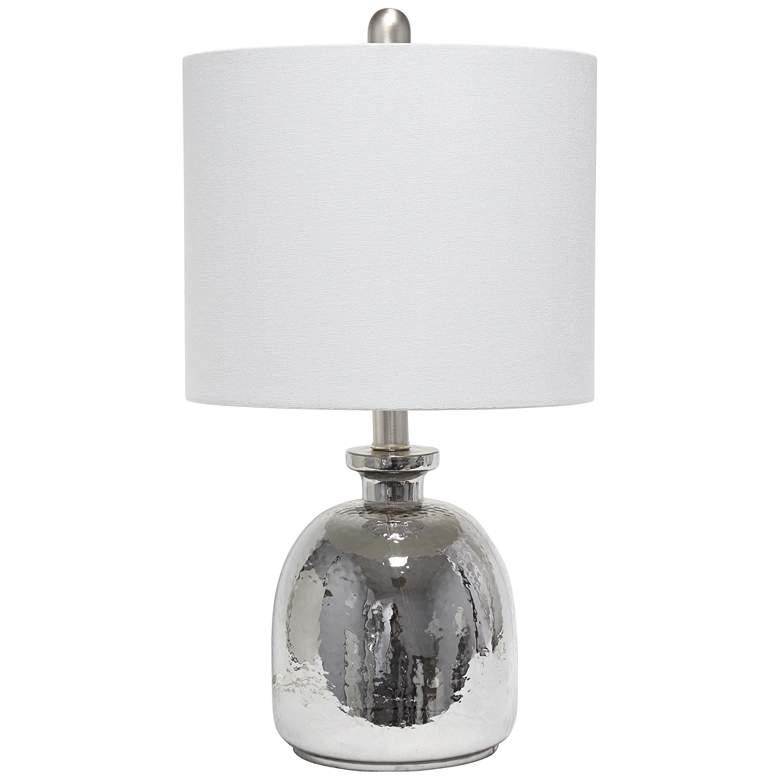 Lalia Home Metallic Gray Glass Jar Accent Table Lamp