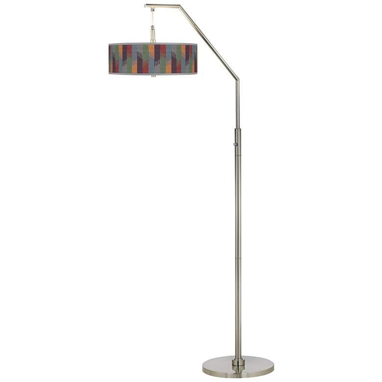 Tassels Giclee Shade Arc Floor Lamp