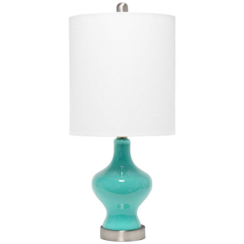Lalia Home Paseo Teal Glass Accent Table Lamp