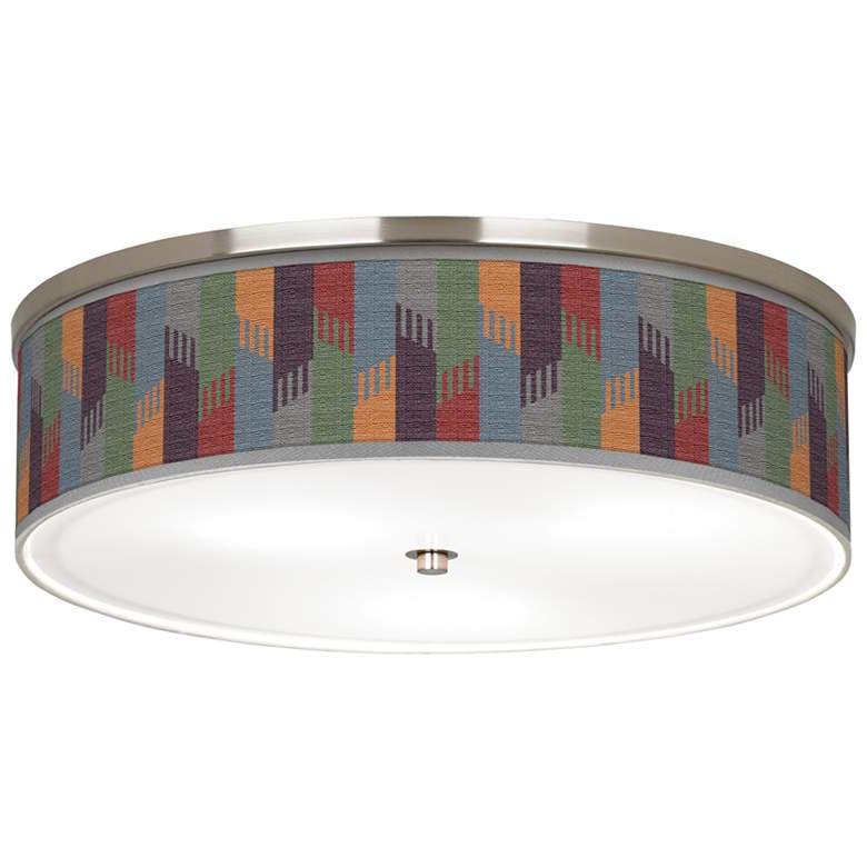 "Tassels Giclee Nickel 20 1/4"" Wide Ceiling Light"
