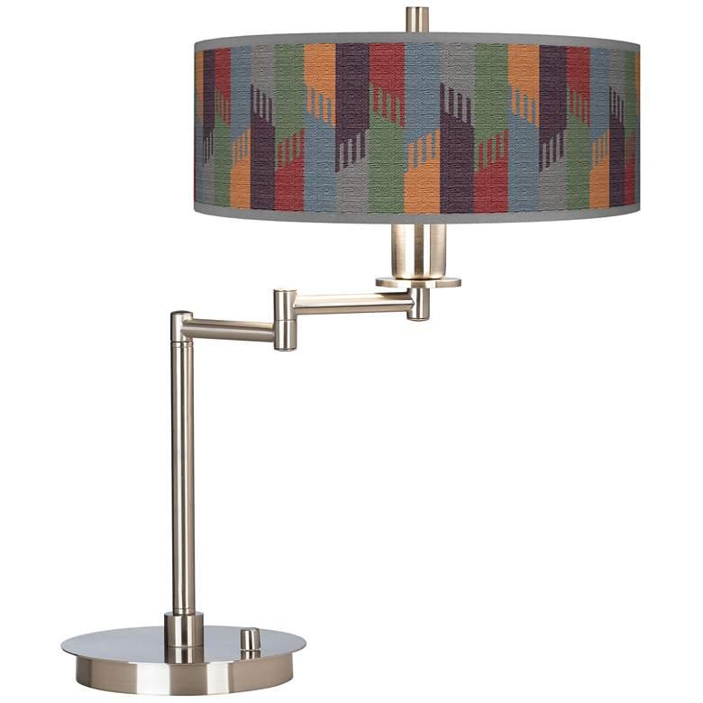 Tassels Giclee Brushed Nickel Swing Arm LED Desk Lamp