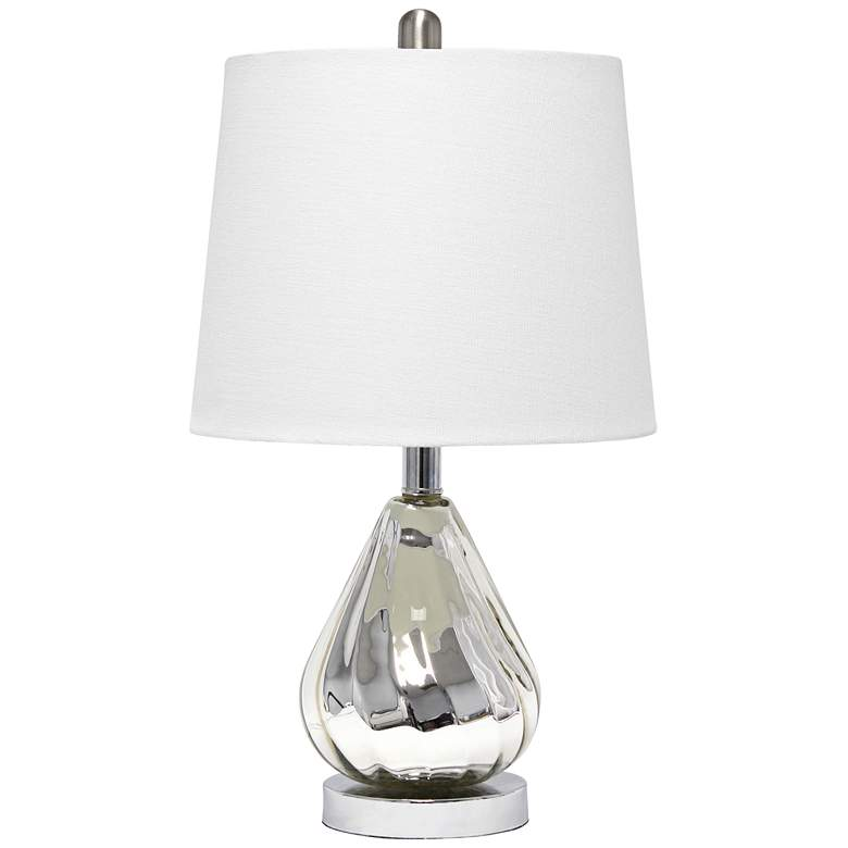 Lalia Home Kissy Pear Chrome and White Accent Table Lamp