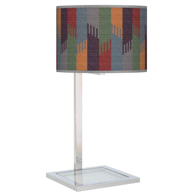 Tassels Glass Inset Table Lamp
