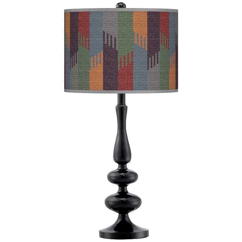 Tassels Giclee Paley Black Table Lamp