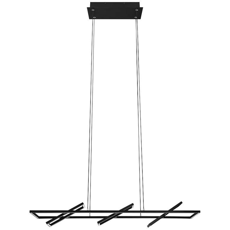 "Eglo Tamasera 8"" Wide Structured Black LED Pendant Light"