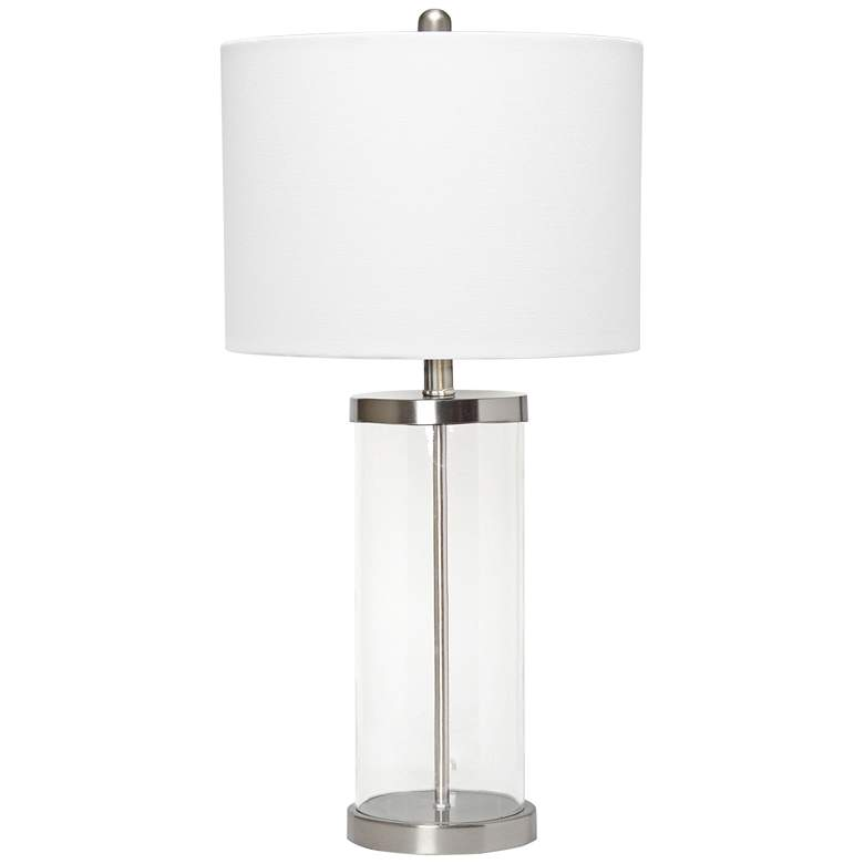 Lalia Home Entrapped Glass and Brushed Nickel Table Lamp