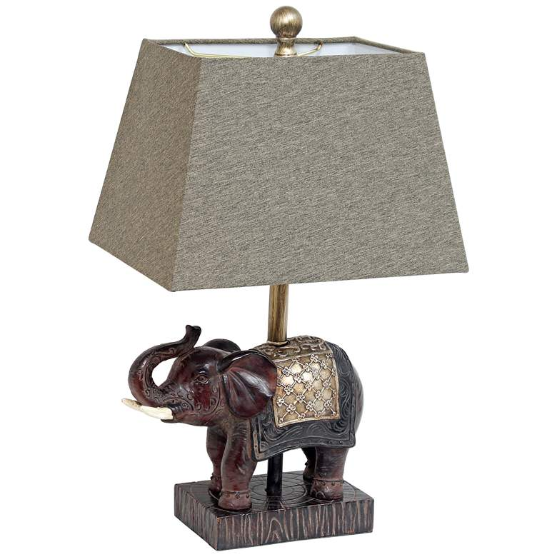 Lalia Home Elephant Brown Accent Table Lamp