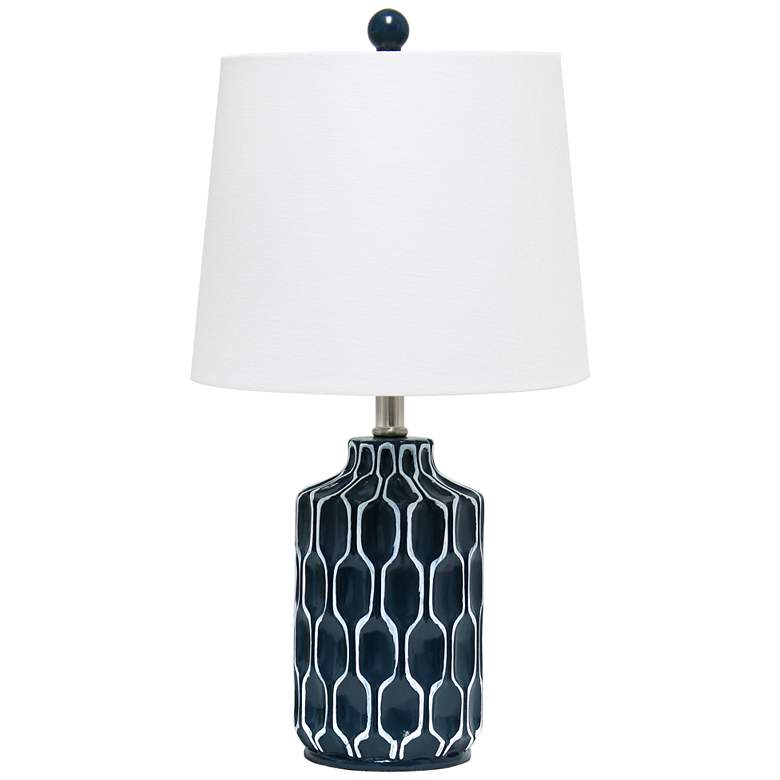 Lalia Home Moroccan Blue Accent Table Lamp