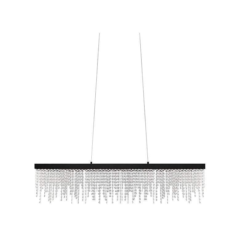 "Eglo Antelao 5"" Wide Black LED Chandelier"
