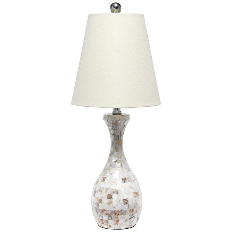 Lalia Home Malibu Curved Mosaic Seashell Vase Table Lamp