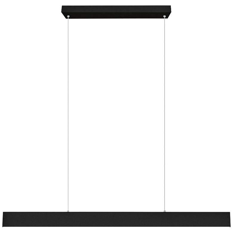 """Eglo Climene 4"""" Wide Matte Black LED Pendant Light"""