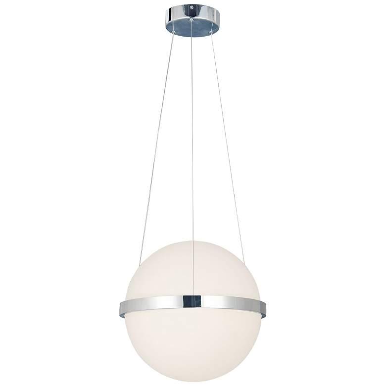 """Acryluxe™ Centric 15""""W Chrome Orb LED Pendant Light"""