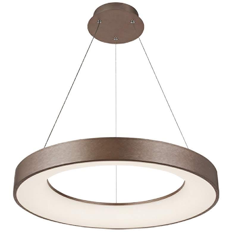 "Acryluxe™ Sway 15"" Wide Light Bronze LED Pendant Light"