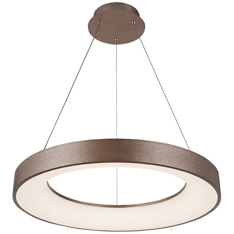 "Acryluxe™ Sway 24"" Wide Light Bronze LED Pendant Light"