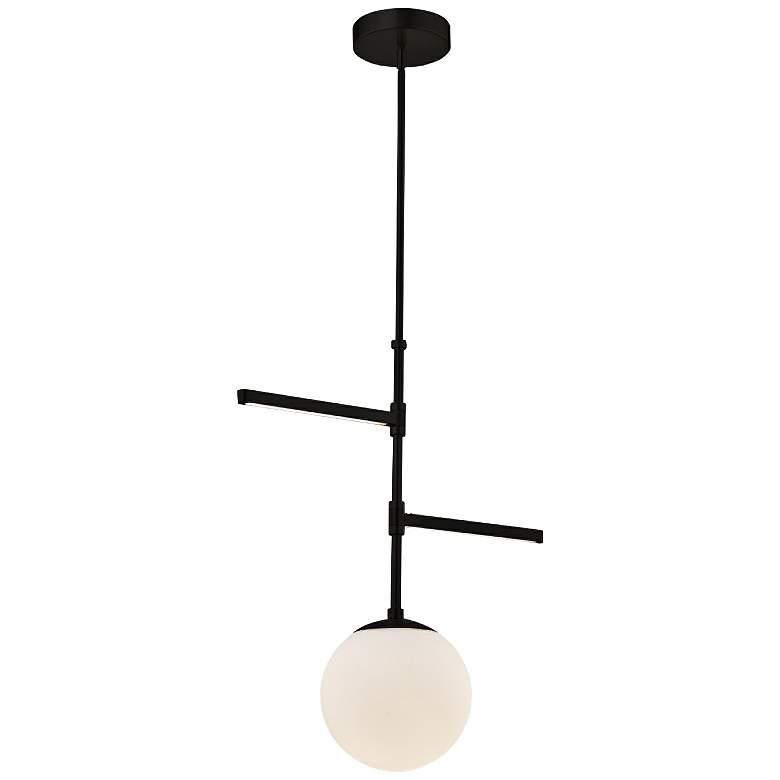 "Fusion™ Intersect 22""W Matte Black LED Pendant Light"