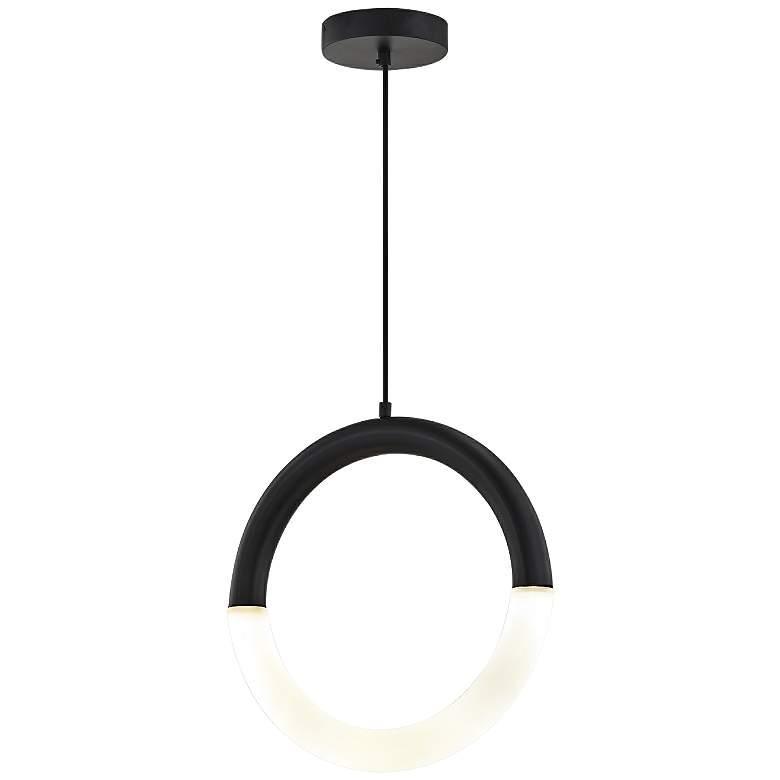 "Acryluxe™ Revolve 17 3/4"" Wide Black LED Pendant Light"