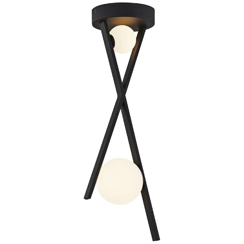 """Fusion™ Stix 10"""" Wide Matte Black LED Mini Pendant"""