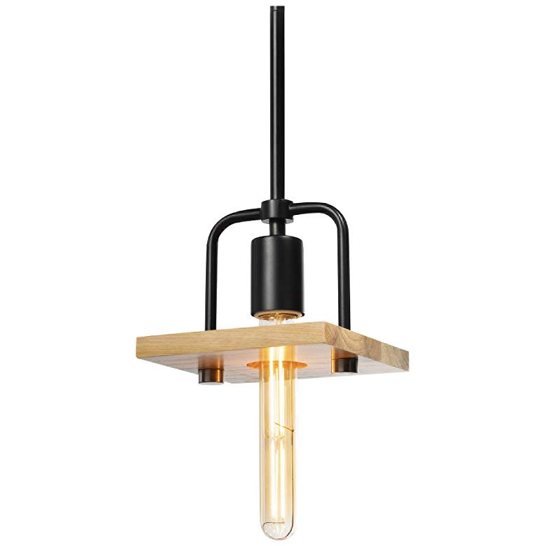 """Justice Design Eco™ Loft 6""""W Matte Black Mini Pendant"""