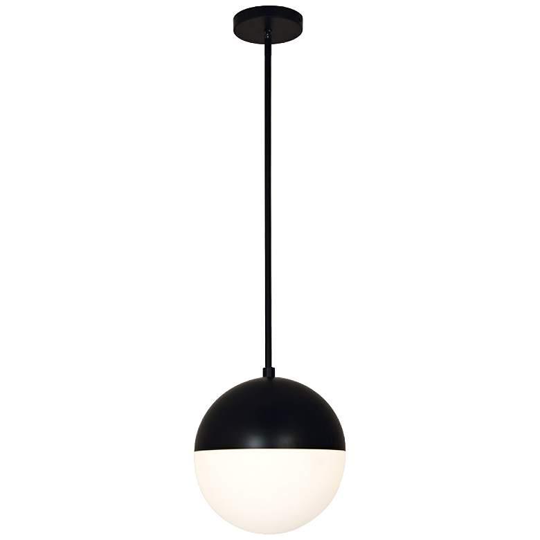 "Fusion™ Ion 10"" Wide Matte Black LED Mini Pendant"