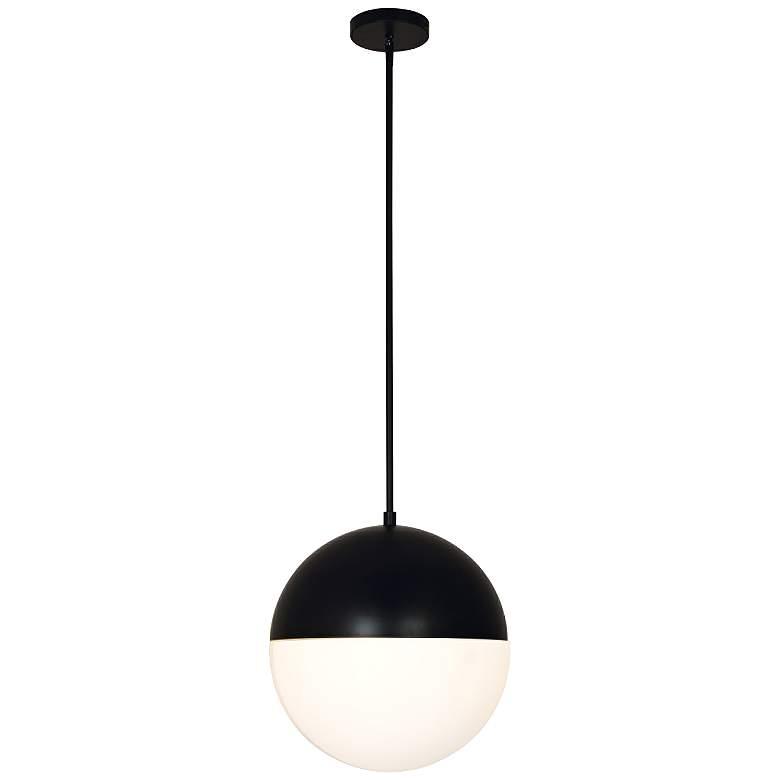 """Fusion™ Ion 14"""" Wide Matte Black LED Pendant Light"""