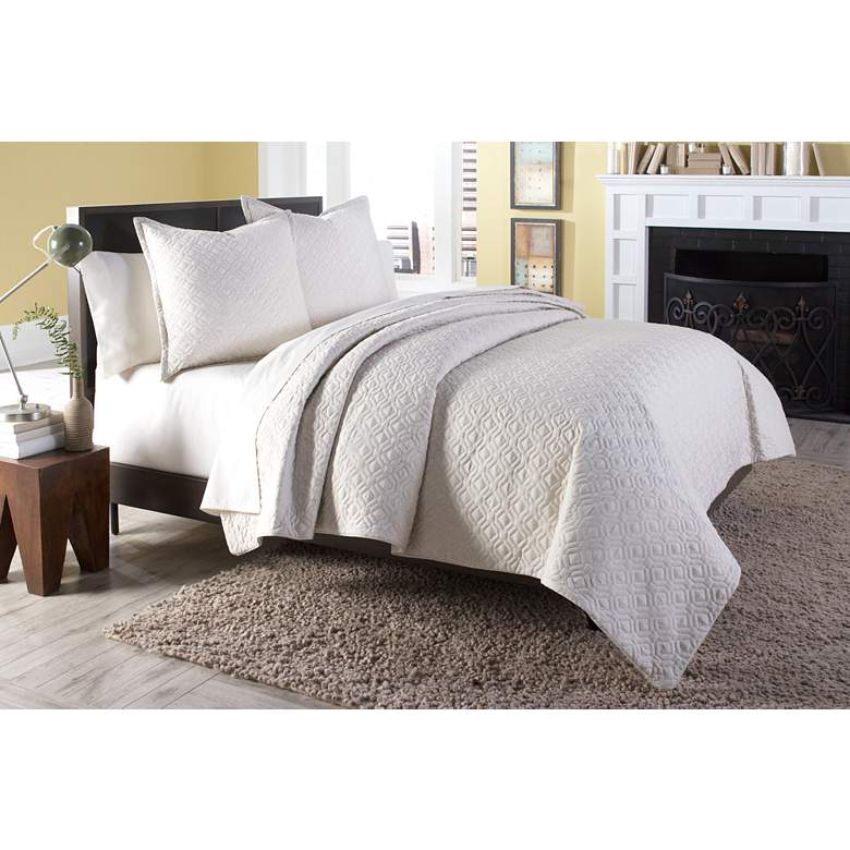Taylor Natural 3-Piece Queen Coverlet/Duvet Bed Set