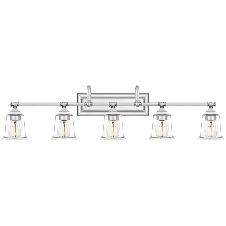 "Quoizel Nicholas 41 3/4""W Polished Chrome 5-Light Bath Light"