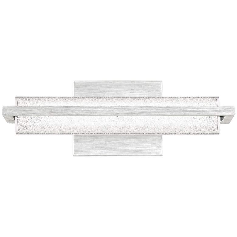 "Quoizel Rosalie 13 3/4"" Wide Brushed Aluminum LED Bath Light"