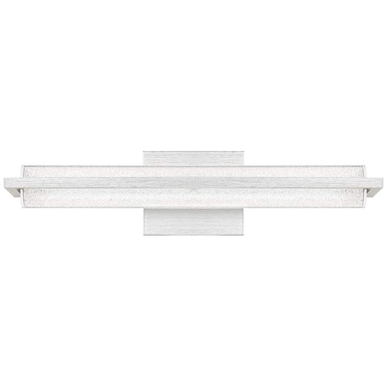 "Quoizel Rosalie 19 3/4"" Wide Brushed Aluminum LED Bath Light"