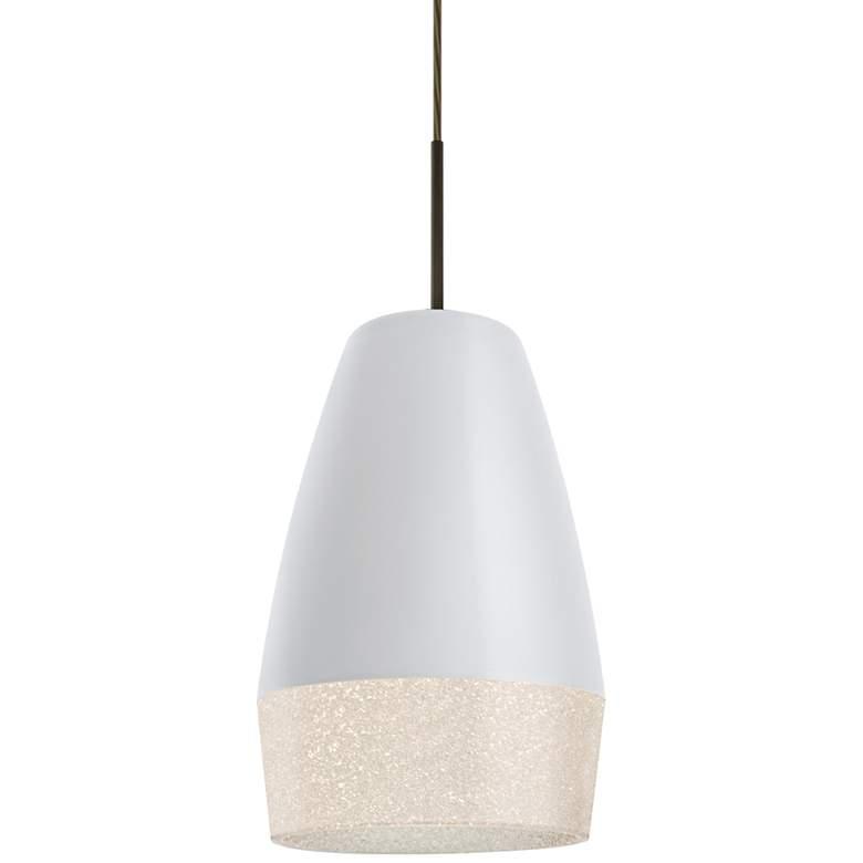 "Besa Abu 12 7 1/2"" Wide Bronze and White Mini Pendant Light"