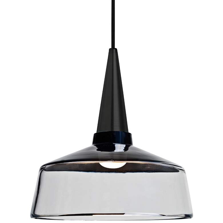 "Besa Baron 10 10""W Black and Clear Glass LED Mini Pendant"