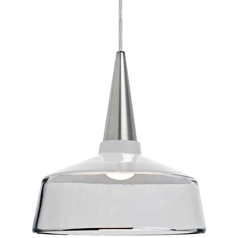 "Besa Baron 10 10""W Nickel and White Glass LED Mini Pendant"