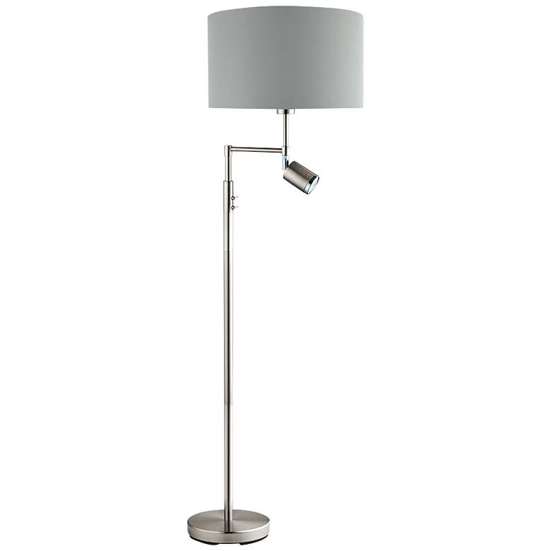 Eglo Santander Matte Nickel Metal LED Reading Floor Lamp