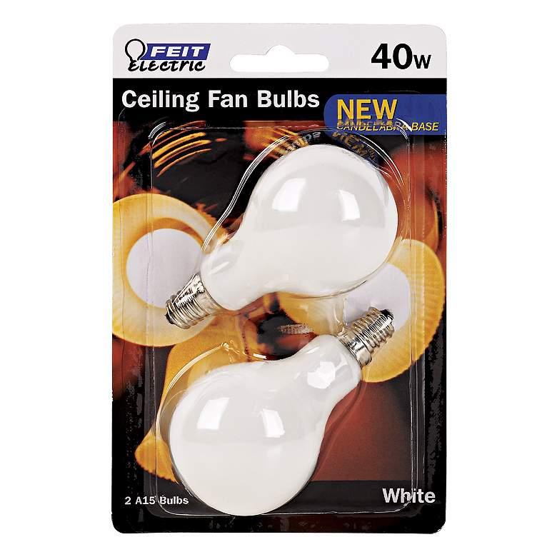 Feit Electric 40 Watt 2-Pack Candelabra Ceiling Fan