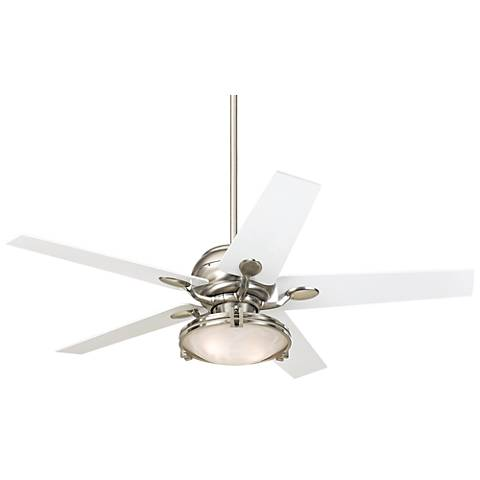 Casa Optima™ Tapered White Blade Ceiling Fan With Remote