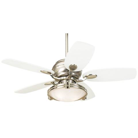"""43"""" Casa Optima™ Brushed Steel Ceiling Fan with Remote"""