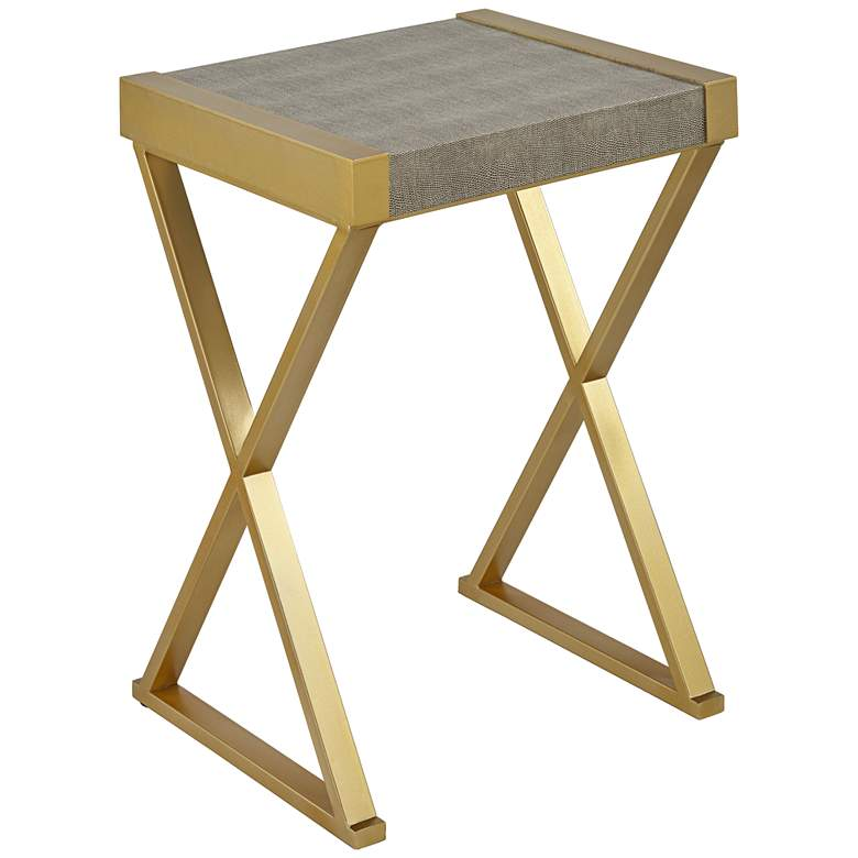 """Sands Point 16"""" Wide Gray and Gold Accent Table"""