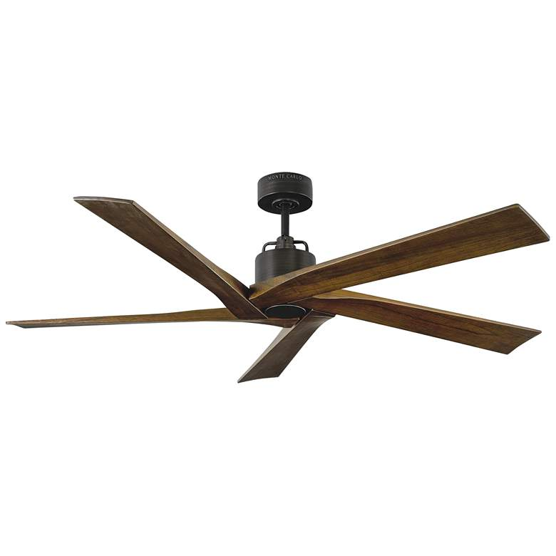 """56"""" Monte Carlo Aspen Aged Pewter Damp Ceiling Fan"""