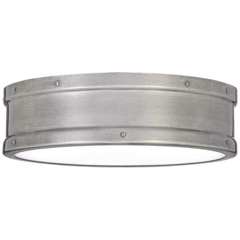 "Quoizel Ahoy 12 3/4"" Wide Antique Nickel LED Ceiling Light"
