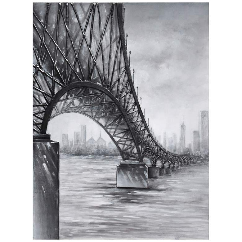 "Varaluz Casa Moody Bridge 47"" High Rectangular Wall Art"