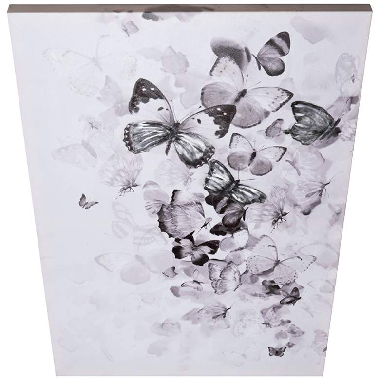 "Flutter Kaleidoscope Butterfly 35 1/2""H Rectangular Wall Art"